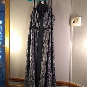 J Crew lined maxi halter dress